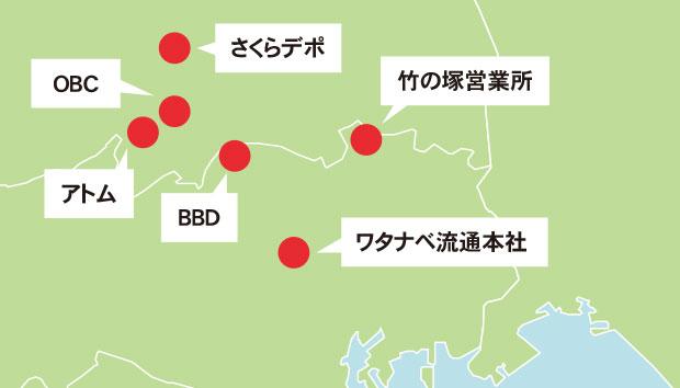 転勤なし。東京・埼玉に6拠点展開。